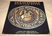 Milk Cow Blues by Bob Wills Original Texas Playboys (Vinyl LP, 1983 USA Sealed)