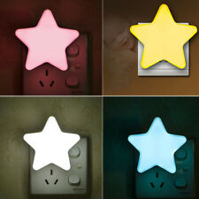 LED Star Night Light Plug In Lamp Toilet Bedroom Lighting Decor