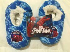 Pantofole bimbo Spiderman nuove blu rosse n.27-28 antiscivolo morbide calde