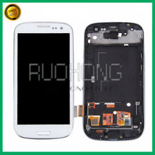 Pour Samsung Galaxy S3 I9300 i9305 Display LCD Touch Screen + Frame Bianco
