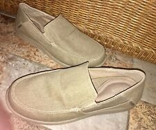 Crocs Santa Cruz 2 Luxe Slip On Shoes Mens Sz 13 Khaki Tan Loafers - NEW