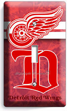 DETROIT RED WINGS NFL HOCKEY NY TEAM SINGLE LIGHT SWITCH WALL PLATE ART COVER