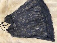 Etam black lace Camisole Top sleepwear nightwear size M