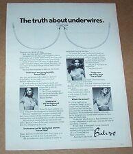 1971 ad page - sexy SUSAN BLAKELY in Bali bra girl lingerie VINTAGE print ADVERT