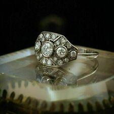 White Gold Over 2.65 Ct Diamond Vintage Nouveau Art Deco Engagement Ring 14K