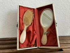 Vintage Hair Brush with Hand Mirror
