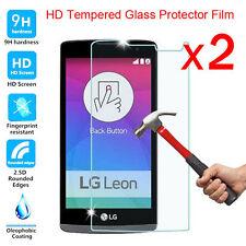 2X Premium Vrai Trempé Verre Ecran Protection Film pour LG TéléPhone Cellulaire