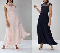 Coast Jen Lace Navy Blue Blush Pink Maxi Prom Dress Ball Gown 12 14 16 20 £149