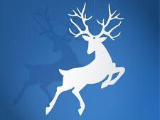 Decorazione Renna Natale Bianco Perlato Appendibile 10pz