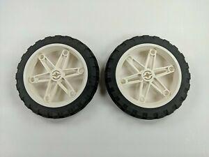 x2 LEGO Motorcycle Wheels 61.6mm D. x 13.6mm & Tires 81.6 x 15 2902 2903