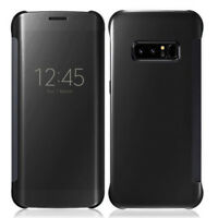 "Housse Coque Etui Clear View Smart Cover NOIR Samsung Galaxy Note 8 6.3""/ Note8"