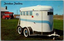 1950s Drumright, Oklahoma Advertising Postcard Turnbow Trailers Horse Trailer