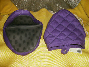NEW SET OF 2 PURPLE OVEN MITTS SILICONE & QUILTED POT HOLDERS NEW IN PACKAGE
