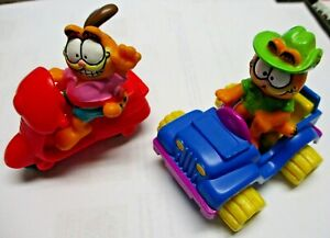 McDonald's1988 Happy Meal Toys Garfield the Cat In Jeep & Oddie on Scooter