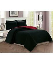 Elegant Comfort Luxury 3pc Quilted King/California King Coverlet Set Black $135