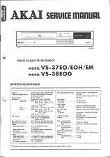 Akai Original Service Manual  für VS-37-38EOG