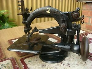 Old Vintage Antique  Sewing Machine  Similar Wilcox Willcox & Gibbs See Video