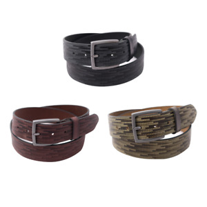 """Designer Men's Real Leather Belts For Trousers 1.5"""" Buckle Buffalo Leather Belt"""