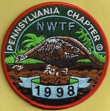Pa Game Fish Commission NEW Pa Chapter NWTF 98 Artist Signed PREMIER ISSUE Patch