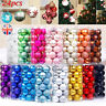 24pcs Glitter Christmas Baubles Xmas Tree Ornament Hanging Ball Decor 6cm Diy