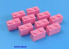 LEGO®  / 1x2 GRUNDBAUSTEINE rosa / 10 Stück