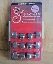 Grover vintage style tuners - 3 a side, Nickel