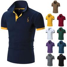 Модные мужские приталенные рубашки с коротким рукавом повседневные гол T-Shirt mulscle, топы, футболка,