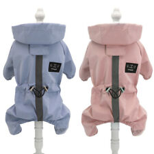 Reflective Dog Raincoat With Hood Jumpsuit Waterproof Coat Jacket for Small Dog