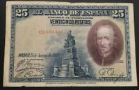 Billete 25 pesetas 1928 Alfonso XIII serie C