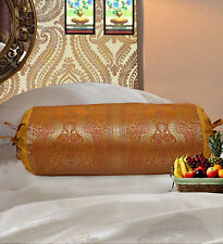 Indian Handmade Cushion Brocade Bolster Pillow Cover Throw Round Cylinder 30""