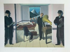 René Magritte: The Menaced Assassin (1927). Signed & Numbered Color Lithograph