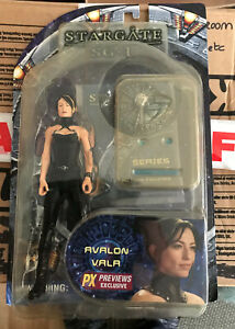 Avalon Vala of Stargate SG-1 Series 3 Action Figure. New Blister by Diamond Toy