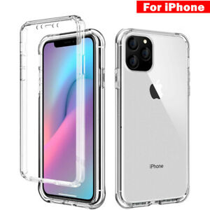 Shockproof 360 Front & Back CLEAR Case Cover For iPhone 12 11 Pro Max SE 2 XR X