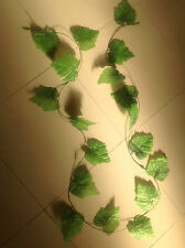 8 x Artificial Ivy hanging/grape leaves leaf vine Foliage F97