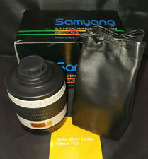 Samyang 800mm F8.0 Reflex Mirror Lens in Original Box with Bag and Instructions