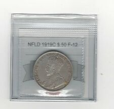 **1919C**, Coin Mart Graded, Newfoundland $.50 Cent,**F-12**