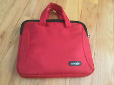 iPad or tablet bag with handles red, with a zipper, 11 x 9 1 1/2, soft