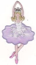 "3"" Tall Purple Lavender Ballet Prima Ballerina Embroidery Patch"