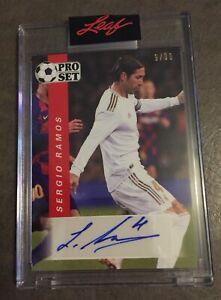 2021 Pro Set Soccer - Autograph Auto /30 - SERGIO RAMOS - Real Madrid - Spain