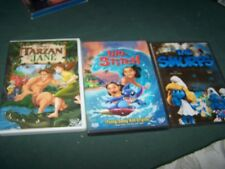 Lilo & Stitch, The Smurfs & Tarzan & Jane DVD/Movies