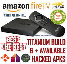 AMAZON FIRE TV BOX 4K HD 17.3 JAlLBROK3N TITANIUM BUILD +AVAILABLE UNLOCK3D APPS
