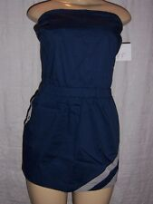 boy meets girl short strapless ink blue dress Beach or Boat Suit Size Medium NWT