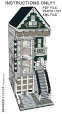 Lego Custom Modular Building - San Francisco Victorian House - INSTRUCTIONS ONLY