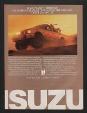 1985 ISUZU 4X4 Pickup Truck - 4 Wheel Drive -  BAJA 1000 Race - VINTAGE AD