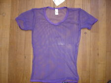 T-shirt violet Taille M - résille transparent sheer sexy gay Ref M09