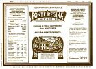 ETICHETTA ACQUA MINERALE FONTE REGINA 1988