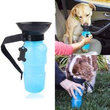 Pet Dog Cat Portable Plastic Feeding Bowl Travel Water Bottle Dispenser Feeder K