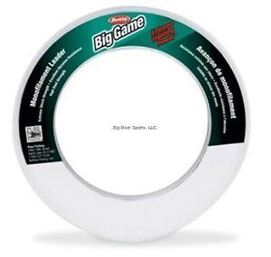 Berkley Trilene Big Game Shock Resistant Mono Leader 50lb 55yd Spl Clr BGLW50-15