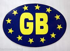 Window & Bumper Sticker - GB with Euro Stars Oval Car Sticker, Gift, Souvenir