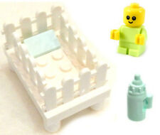 NEW LEGO BABY in CRIB w/Bottle minifigure green figure nursery minifig 60202